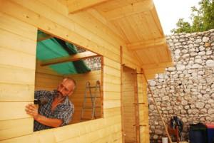 gartenhaus bauen theo schrauben blog. Black Bedroom Furniture Sets. Home Design Ideas