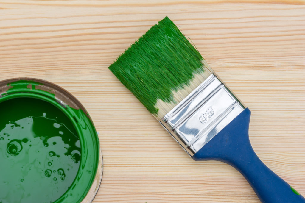 Malerpinsel reinigen