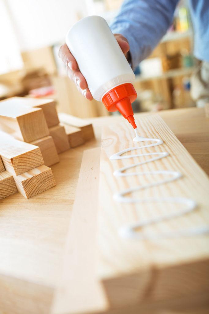 Holz kleben