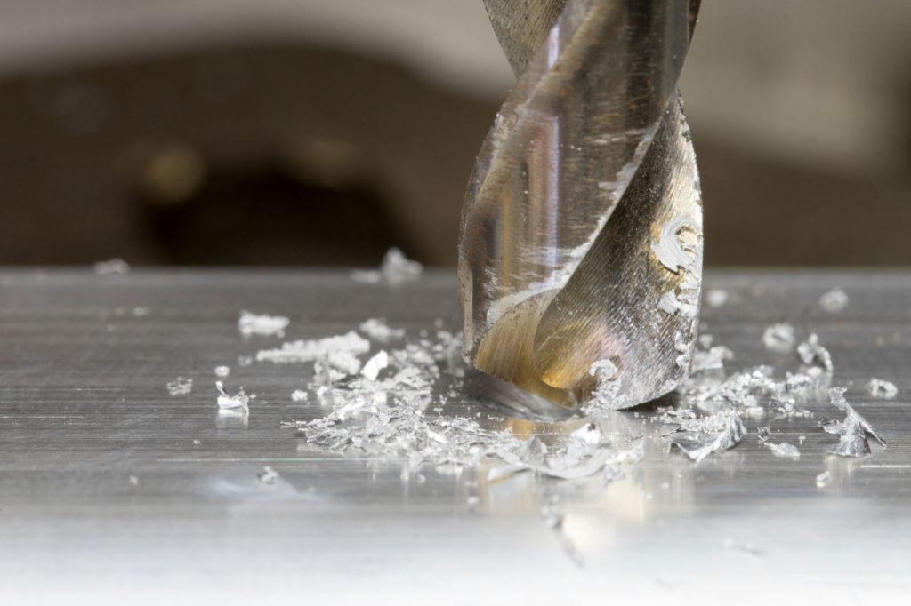 Bohren in Aluminium