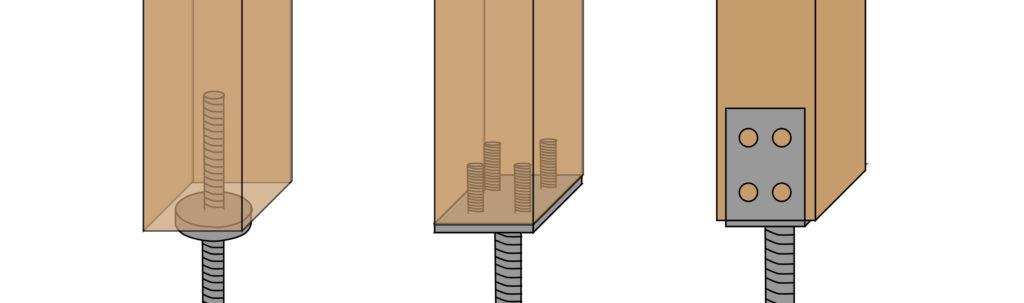 pfostenanker unterschiede und montage von pfosten. Black Bedroom Furniture Sets. Home Design Ideas