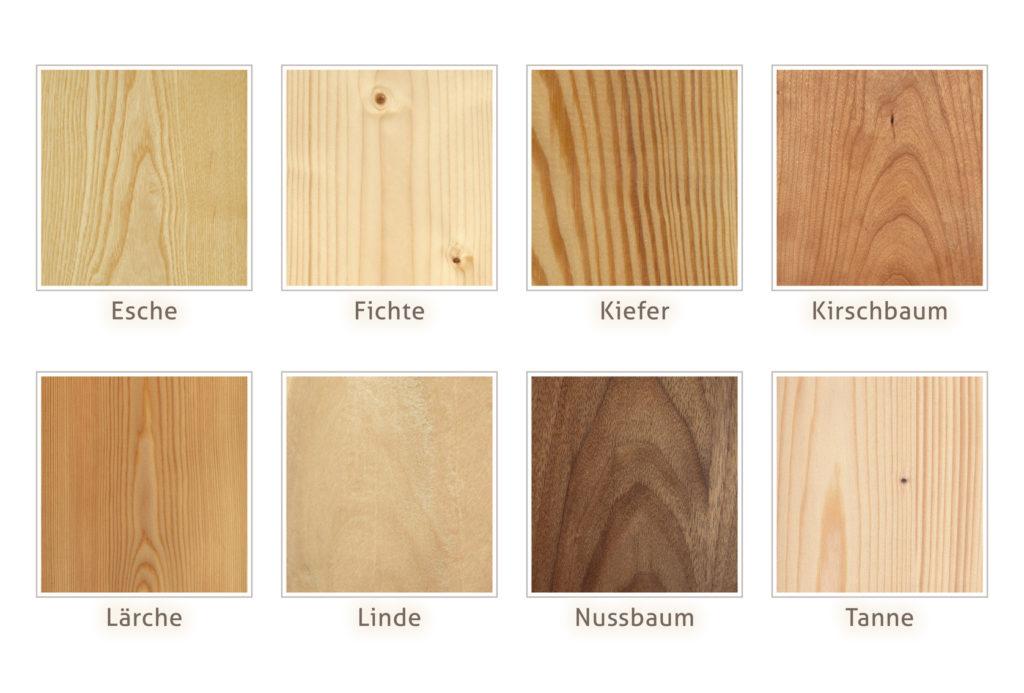 Holzarten Möbelbau
