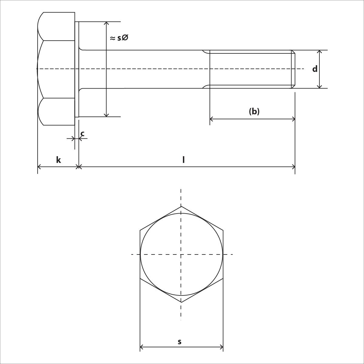 ISO 4014 Skizze