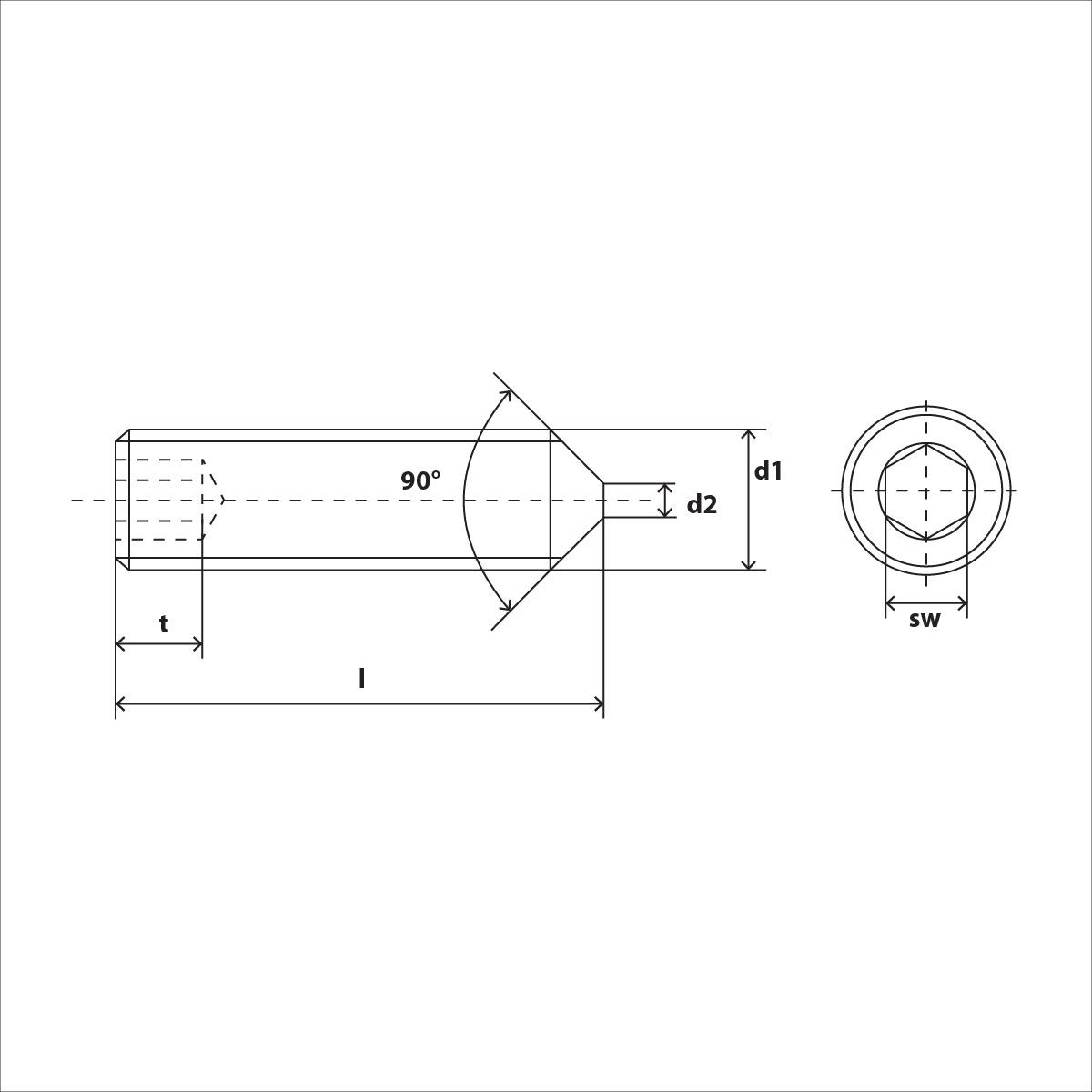 ISO 4027 Skizze
