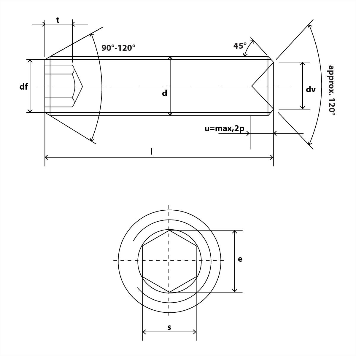 ISO 4029 Skizze