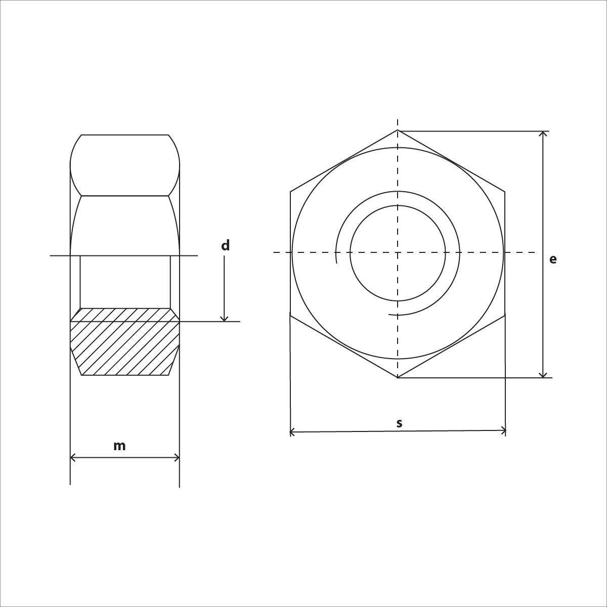 ISO 4032 Skizze