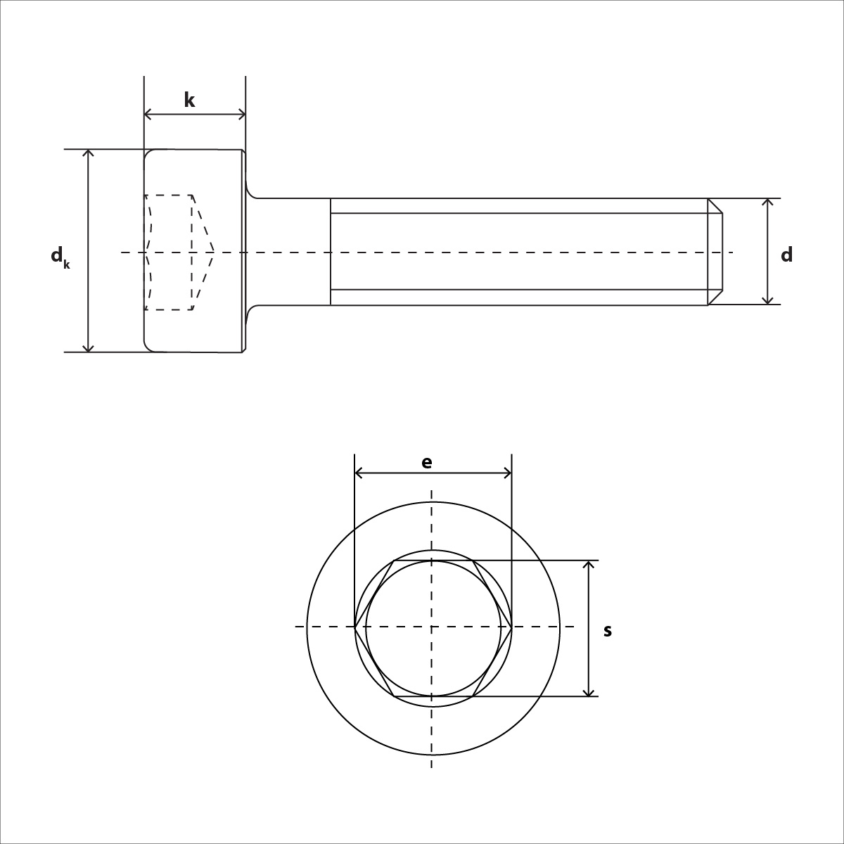 ISO 4762 Skizze
