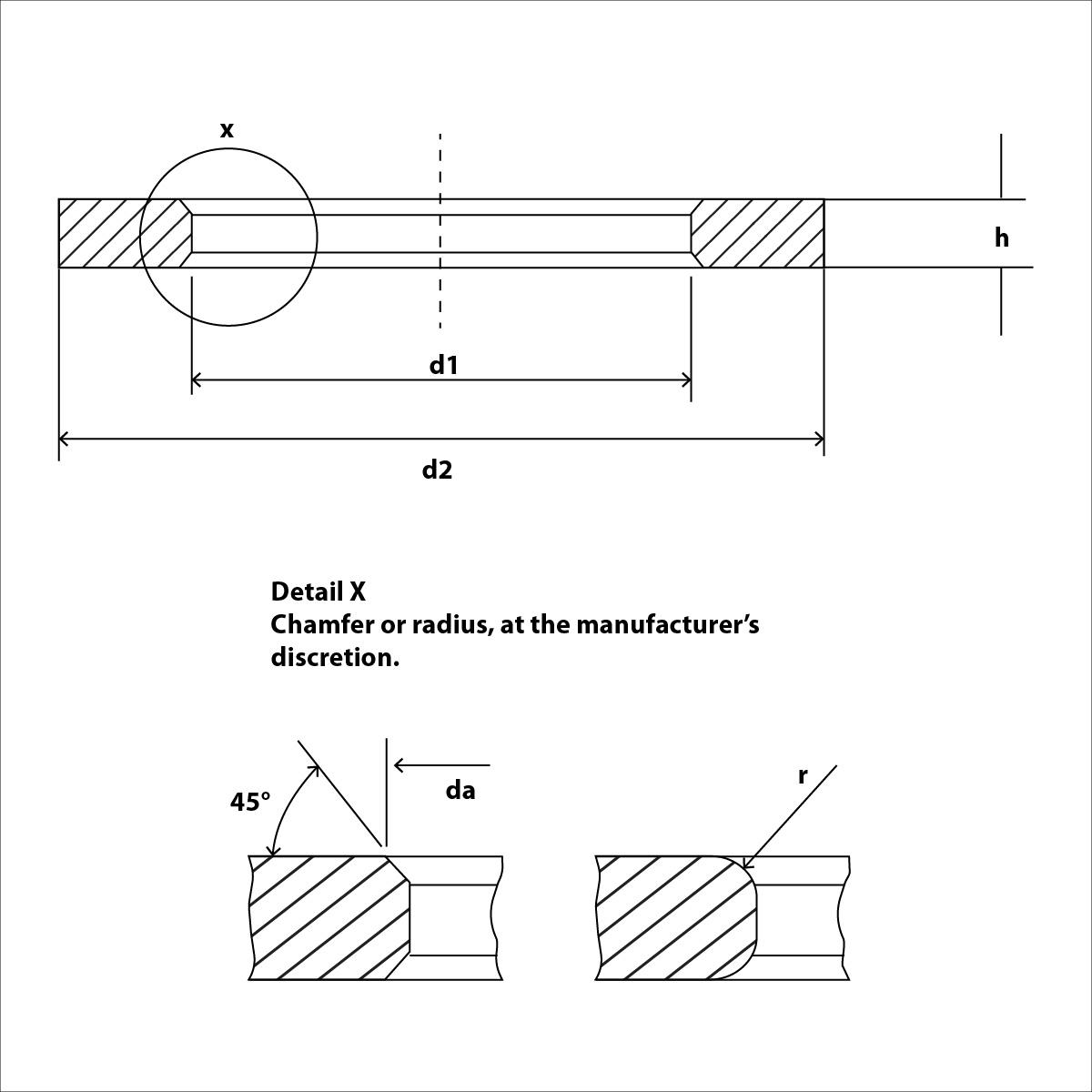 100 U-Scheiben für Zylinderschrauben für M2,5 DIN433 A2