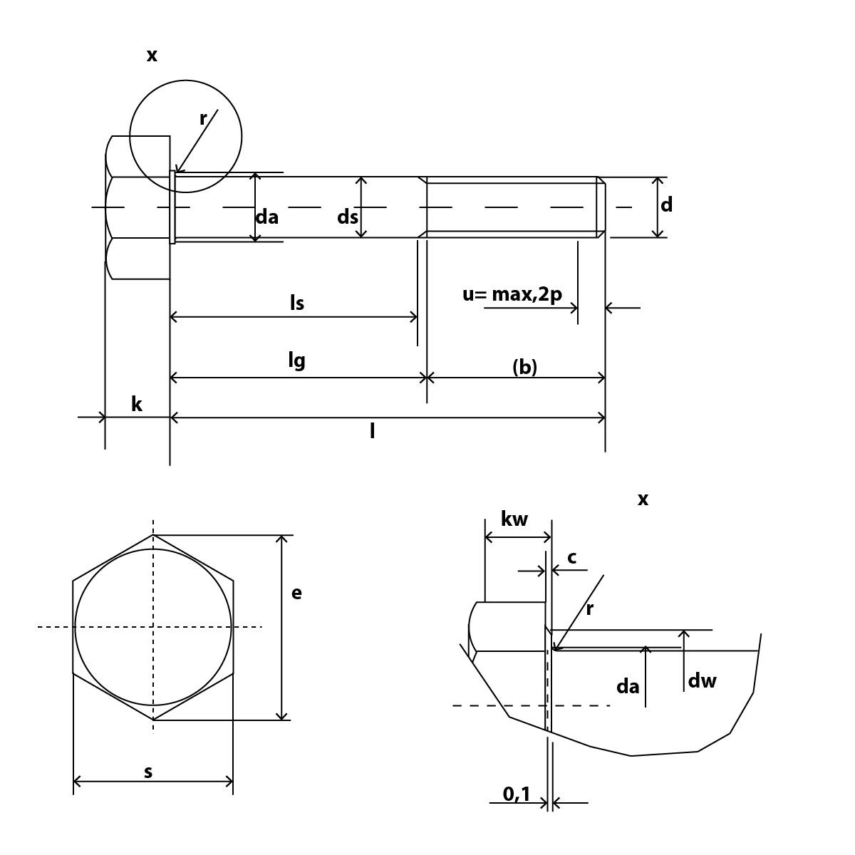 DIN 601 Skizze